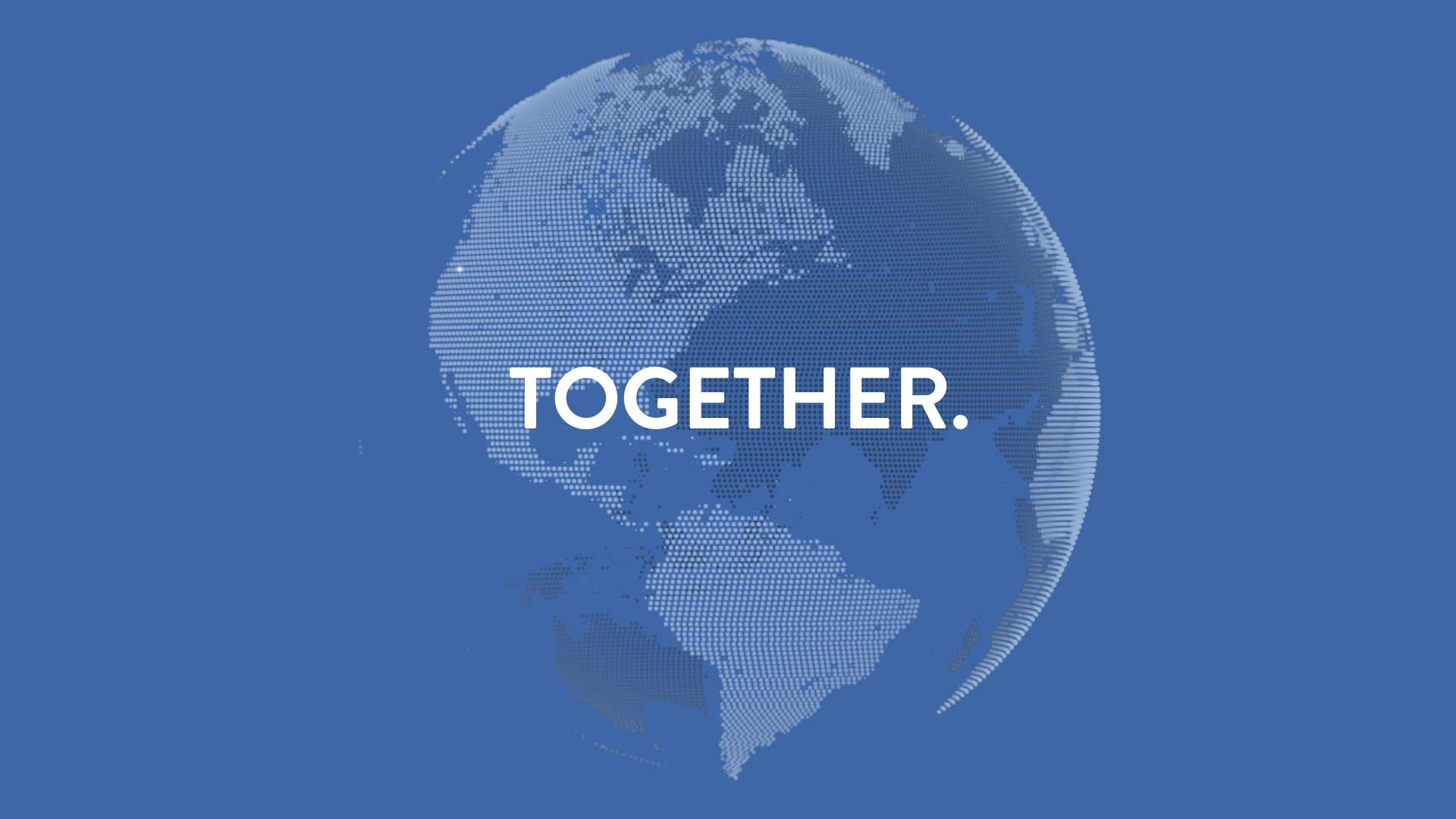 """OHSU 2025 video still showing a Earth globe with words """"Together"""" over top"""
