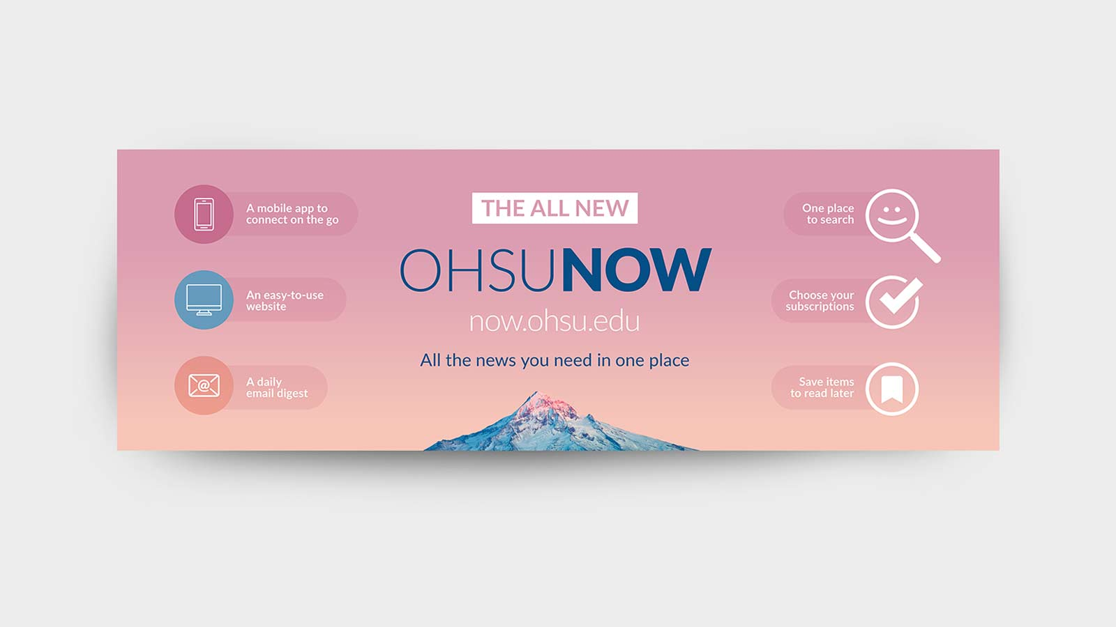 OHSU Now marketing campaign large banner design