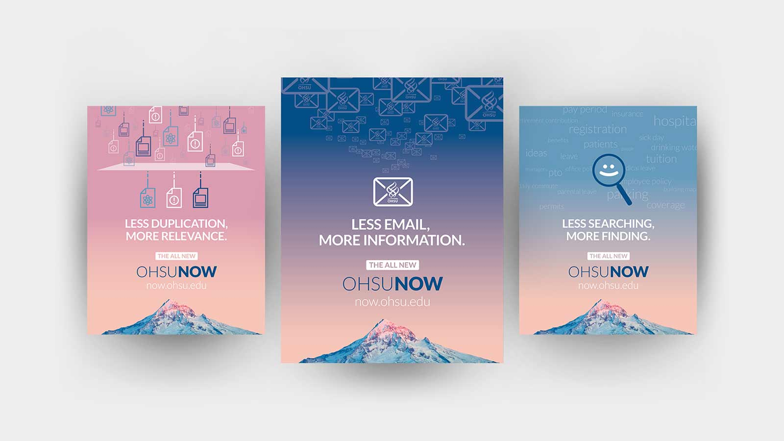 OHSU Now marketing campaign array of poster designs